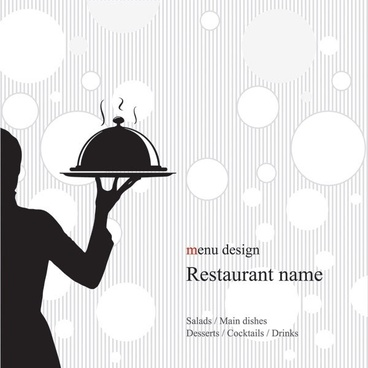 western menu vector 3
