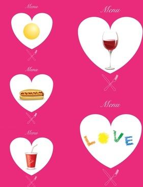western pink heartshaped graphics vector