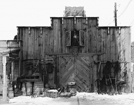 western style building wooden