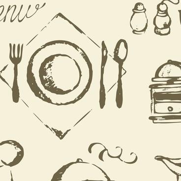 western utensils vector