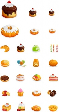 westernstyle cakes beautiful icon vector
