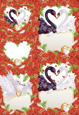 Westernstyle wedding greeting card vector