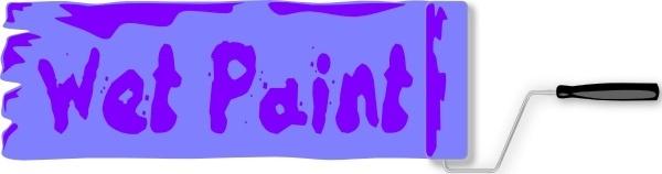 Wet Paint Sign clip art