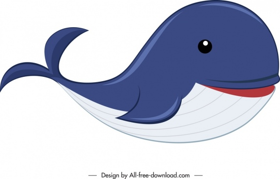 whale animal icon cute cartoon sketch