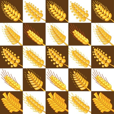 wheat pattern 03 vector