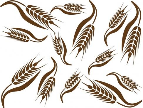 wheat painting dynamic flat handdrawn sketch