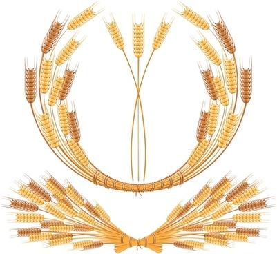wheat wreath template bright shiny yellow design