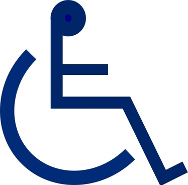 Wheelchair Sign clip art