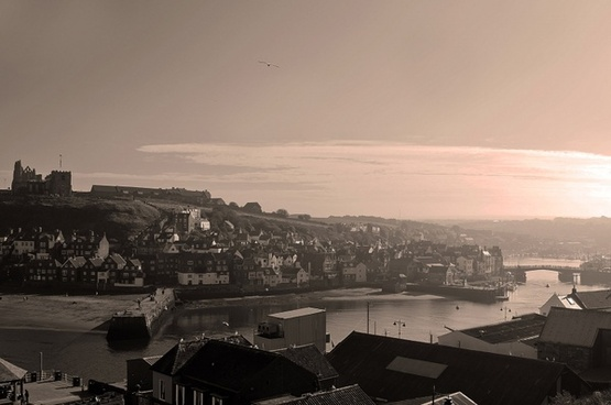 whitby in fog