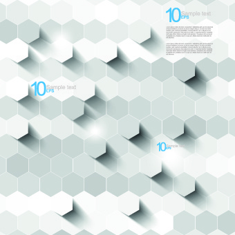 white 3d shapes background vector
