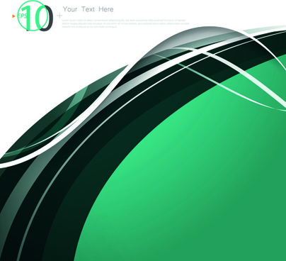 white and green background with abstract elements vector