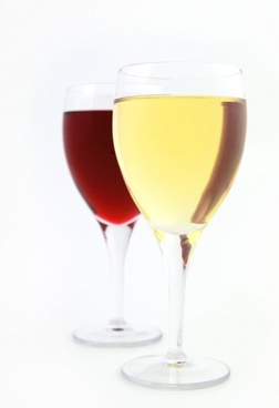 white and red wine