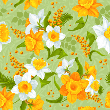 Vector yellow flower free vector download 13121 free vector for white and yellow flowers vector seamless pattern mightylinksfo