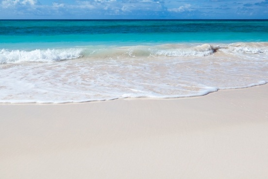 white beach and sea