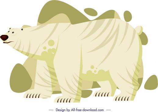 white bear icon cartoon character sketch