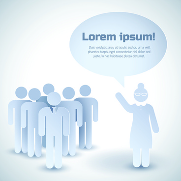 white business people with text cloud vector