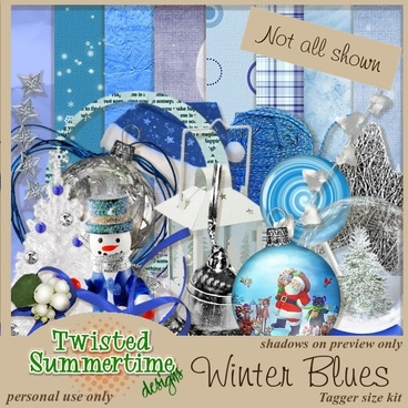 white christmas series of collage