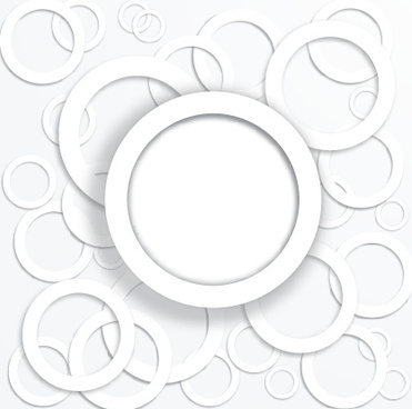 white circle background design vector
