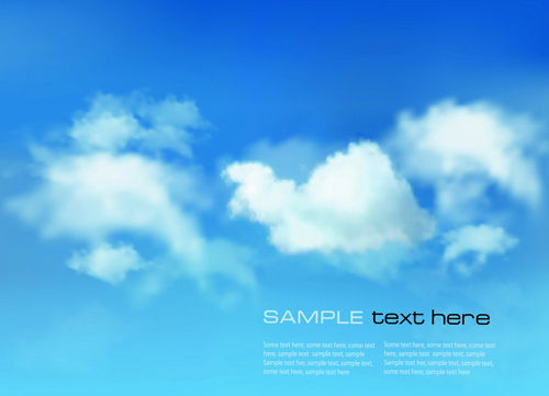 white clouds with blue sky vector