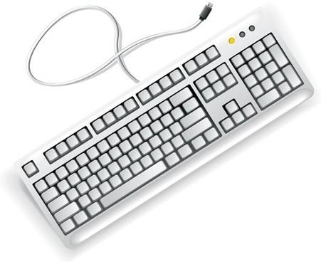 White Computer Keyboard Vector