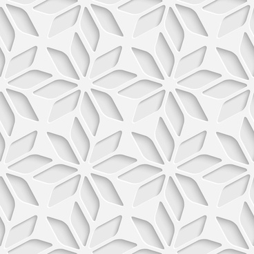 white decorative pattern vector background