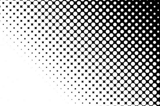 white dots black
