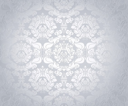 flowers pattern template vignette monochrome classical repeating decor