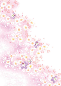 Pink background ai free vector download 78130 free vector for white flower and pink background mightylinksfo