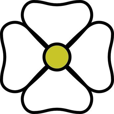 White Flower clip art