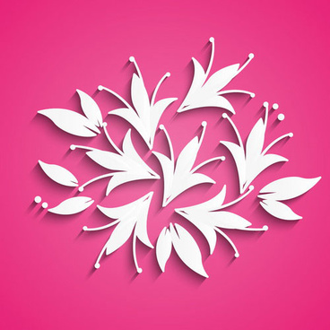 white flowers vector background