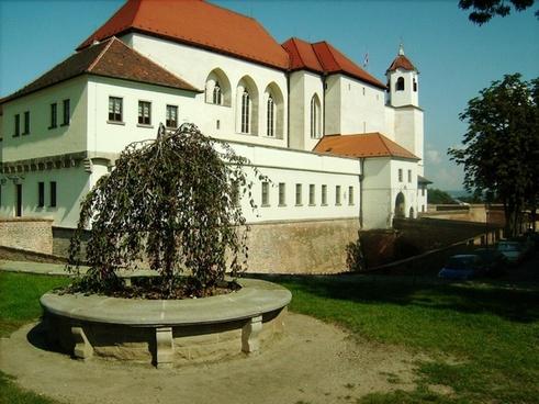 white gothic castle