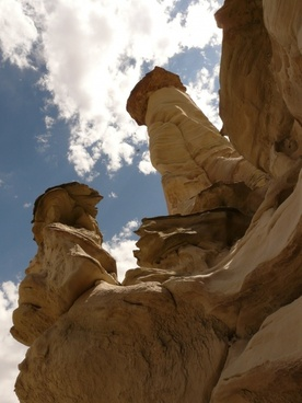 white hoodoos wahweap creek arizona