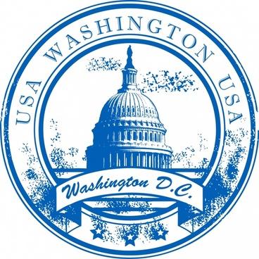 white house emblem vector