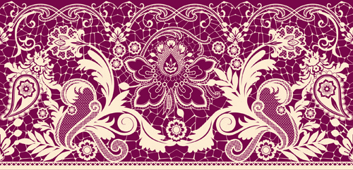 Different Lace Design Elements Vector Free Vector In Encapsulated