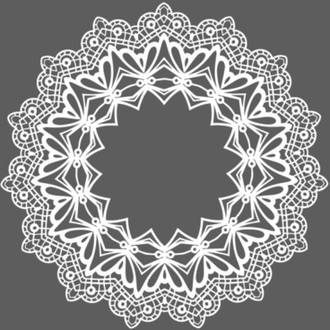 white lace frames vector