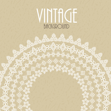 white lace with vintage background vectors