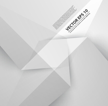 white origami background modern vector