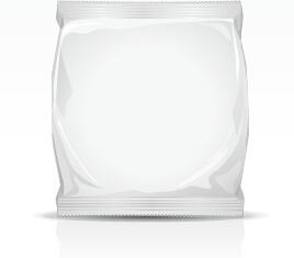 white package bag vectors
