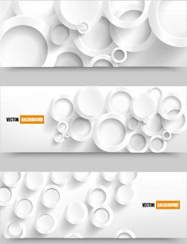 white paper banner vectora