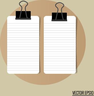white paper banners vectors set