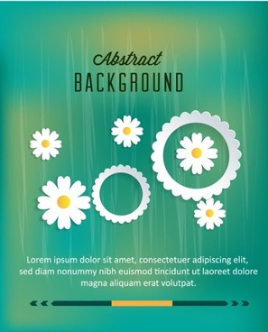 white paper flower design background graphic