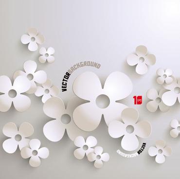 white paper flower vector