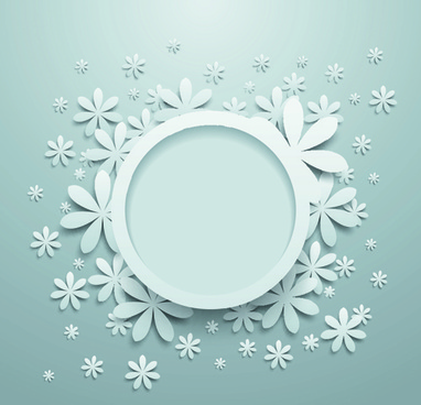 white paper flower vector