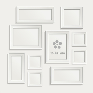 Black and white classical frames sets Free vector in Adobe ...