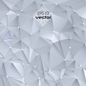 white polygonal design background vector