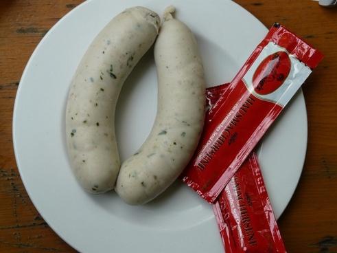 white sausage bavaria sausage