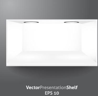 white showcase vector