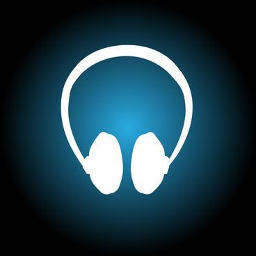 white silhouette headphones