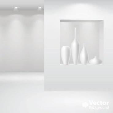 art gallery template shiny bright modern 3d sketch