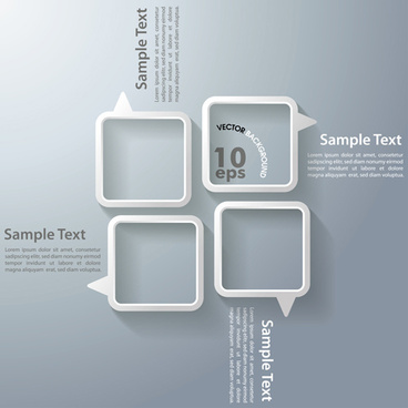 white text boxes backgrounds vector